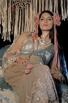 Blanche DuBois Headband  new Boudoir Queen by BoudoirQueen on Etsy, $195.00... art nouveau hair Mucha