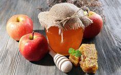 Scarica sfondi vasetto di miele, mele, apple ancora in vita