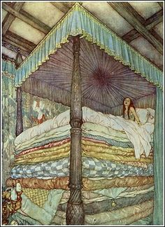 Edmund Dulac, The Princess and the Pea