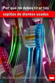 Por qué no debes tirar tus cepillos de dientes usados. ¡Trucos para el hogar! #limpieza #hogar