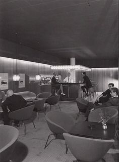 Radisson Blu Royal Hotel (also known as SAS Royal Hotel) Copenhagen, Denmark with the original designs of Danish architect and designer Arne Jacobsen, created especially for the hotel, 1956-1960