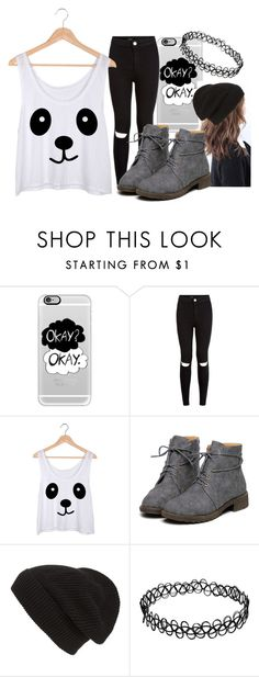 """From Items #2 (Black&White)"" by danieladuran1 ❤ liked on Polyvore featuring Casetify and Phase 3"