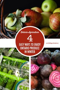 Here's 4 easy ways to enjoy Ontario produce in the winter months along with some tips on produce that's available in winter! Greenhouse Vegetables, Root Vegetables, Fruit And Veg, Fruits And Veggies, Food Spot, Canadian Food, Getting Hungry, Harvest Time, Winter Months