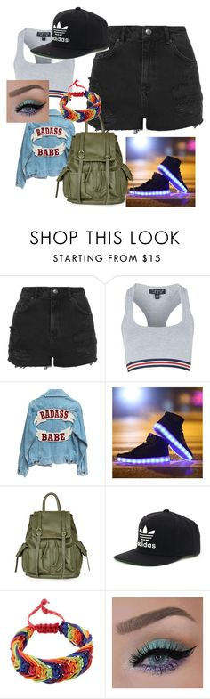 """Untitled #18"" by wackynicole ❤ liked on Polyvore featuring Topshop, adidas, women's clothing, women's fashion, women, female, woman, misses and juniors"