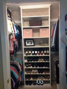 Image result for Shoe Shelf in Small Closet