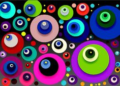 watercolor abstract design - Google Search Abstract Watercolor, Abstract Art, Aboriginal Dot Art, Graffiti Murals, Eye Jewelry, Dot Painting, Gold Paint, Print Artist, Evil Eye