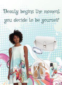 Beauty begins the moment you decide to be yourself.    (  #dress, #dresses, #dresspatterns, #dresslovers, #Alinedress, #summerdress #casualdress  )