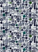 marimekko Puutarhurin parhaat Marimekko, Finland, Home Furniture, Interior Decorating, Abstract, Fabric, Artwork, Pattern, Interiors