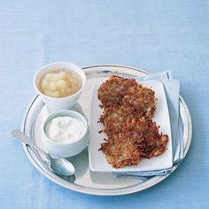 Pepper the potato-based mixture with chives for a lacy pancake that's perfectly crisp. Serve with sour cream or applesauce (or both!). Get the Perfect Latkes recipe.    - GoodHousekeeping.com