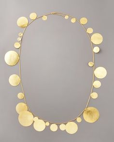 Gold statement necklace love