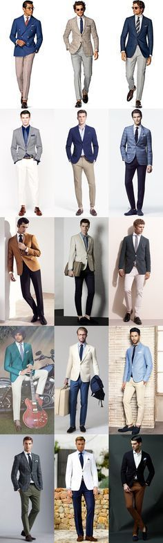 Men's Summer Weddings Smart-Casual Separates Outfit Inspiration Lookbook                                                                                                                                                                                 Más