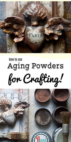 How to use Aging Powders for DIY and Craft Projects! By Thicketworks for The Graphics Fairy. This is a gorgeous Technique that will take your projects to the next level! Creating some amazing DIY Home Decor Projects with an aged Old World Finish!