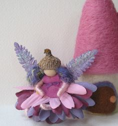 Tiny Pink Fairy Waldorf inspired art doll by moonforest on Etsy, $12.00