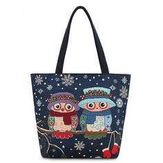 Cheap floral handbag, Buy Quality beach bag large directly from China beach bag Suppliers: Miyahouse Hot Sale Women Canvas Bag Cute Owl Printed Tote Female Beach Bag Large Capacity Shoulder Shopping Bags Floral Handbag Owl Bags, Bags Travel, Bags 2017, Canvas Handbags, Tote Handbags, Owl Print, Floral Bags, Embroidered Bag, Large Bags