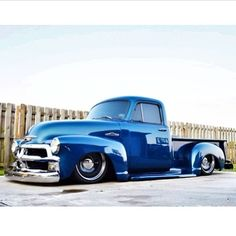 "1954 Chevrolet Pickup With 20"" Steelies (Detroit Steel Wheels)"