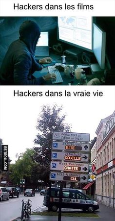 Les hackers dans les films vs dans la vraie vie Funny Facts, Funny Jokes, Funny Images, Funny Pictures, When Im Bored, Image Fun, Geek Humor, Anime Manga, Troll