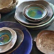 lovely organic blue naxos dinnerware in dinnerware | CB2 $7/plate. mix nicely with more modern shapes/colors | Home | Pinterest | Dinnerware Modern and ... & lovely organic blue naxos dinnerware in dinnerware | CB2 $7/plate ...