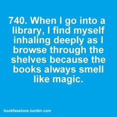 Love the smell of books! New or used as long as it doesn't smell like smoke.