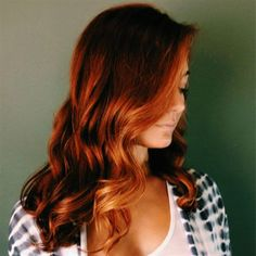 Copper-Kissed Auburn Balayage - Get the formula & HOW-TO!