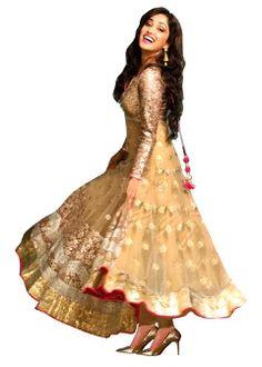 Buy Ethnic Basket Women's Semi-Stitched Salwar Suit - Cream
