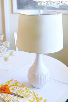 DIY Cover a Lampshade ItsOverflowing