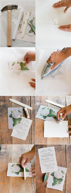 DIY Wax Paper Wedding Invitations via oncewed.com
