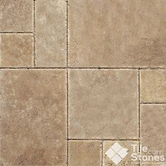 Tuscany chocolate travertine Versailles pattern mediterranean-wall-and-floor-tile. Paver Patterns, Floor Patterns, Shower Floor Tile, Wall And Floor Tiles, Travertine Floors, Stone Flooring, Small Bathroom Tiles, Bathroom Ideas, Downstairs Bathroom