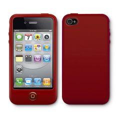 iPhone 4 Colors ケース レッド 1880yen ホームボタンが押しやすいiPhone 4ケース