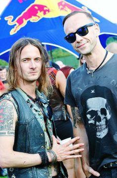 Erik Danielsson ( Watain ) and Nergal ( Behemoth )