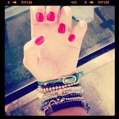 Mia Lia Keepsake bracelet collection - V festival / arm party / red nails