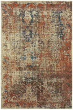 Conrad Area Rug - Synthetic Rugs -  Machine-made Rugs -  Traditional Rugs -  Distressed Rugs | HomeDecorators.com