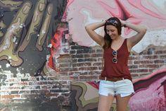 Sarixrocks denim shorts, hairband & sunglasses