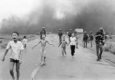 "Napalm Girl Image In the picture, the girl will always be 9 years old and wailing ""Too hot! Too hot!"" as she runs down the road away from her burning Vietnamese village.She will always be naked after blobs of sticky napalm melted through her clothes and layers of skin like jellied lava."