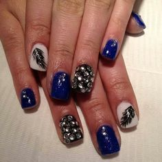 Nails 2014 #beautiful #blue #feather