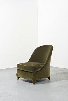 chauffeuse en acajou dlg pascaud jean art deco en blanc. Black Bedroom Furniture Sets. Home Design Ideas
