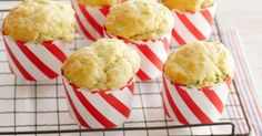 zucchini, bacon and parmesan muffins.