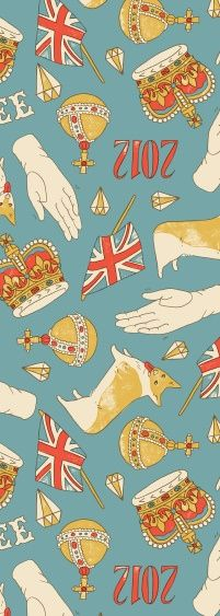 Queen's Diamond Jubilee art, corgi