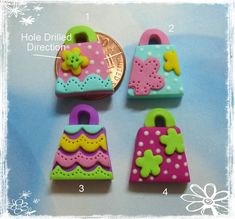 Cute Purse Polymer Clay Charm