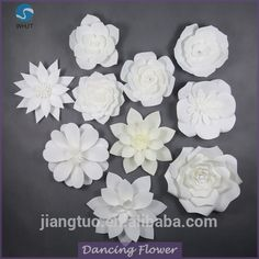 Wholesale Decorative wedding ivory giant handmade paper flowers From m.alibaba.com