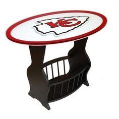Fan Creations NFL Logo End Table NFL Team: Minnesota Vikings - - End Tables - Entertainment Furniture - Furniture Cincinnati Bengals, Pittsburgh Steelers, Dallas Cowboys, Houston Texans, Indianapolis Colts, Denver Broncos, Broncos Logo, Chiefs Logo, Glass End Tables
