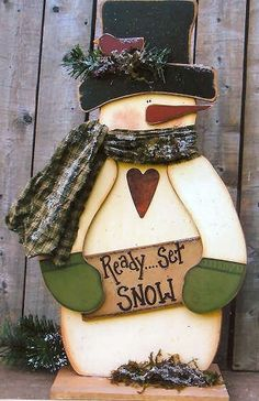 Wood Ready Set Snow Snowman, Snowmen