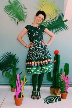 "Daisykleid ""BUTTERFLY AIR"" in grün Kleid Dress"