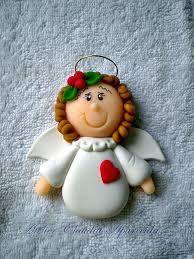 Resultado de imagem para imã de geladeira de biscuit de natal