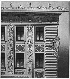 Apartment house in Vienna. Architect Otto Wagner. The architecture of the second half of the XIX century. Drawings and sketches.