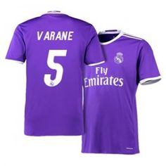 Real Madrid C.F 16-17 Season Away Purple #5 Varane Soccer Jersey [H395]