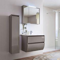 Mobile bagno sospeso in Rovere Castoro con elementi a vista Tulle ...