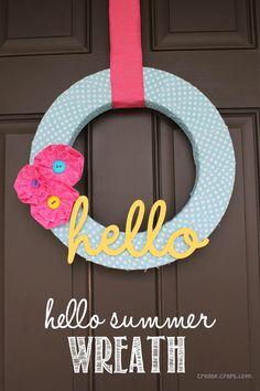 hello summer wreath w font