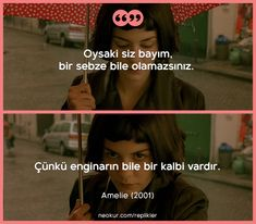 #amelie #replik #film #dizi #sözler L Quotes, Movie Quotes, Daily Quotes, Series Movies, Film Movie, Amelie, Movie Lines, Maybe One Day, Good Movies
