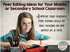 Looking for a new way to approach Peer Editing in your classroom.  Check out how I've changed it up and found success in my classroom.
