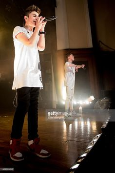 Leondre Devries and Charlie Lenehan of Bars And Melody perform on stage during their totally sold out debut UK Tour at O2 Academy Leicester on April 10, 2015 in Leicester, United Kingdom.